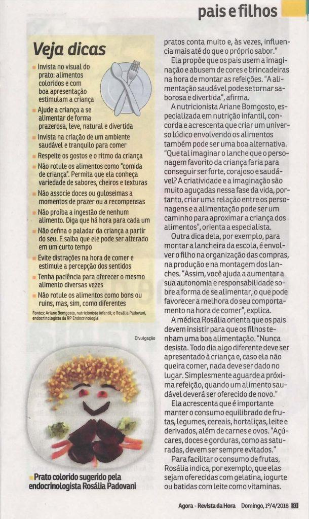 Revista da Hora - Jornal Agora - Rosália Padovani